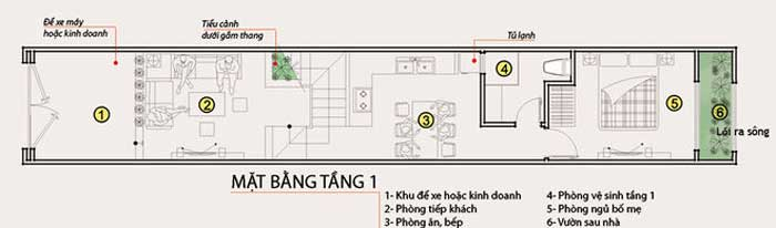 Tư vấn thiết kế nhà 2 tầng diện tích 60m2