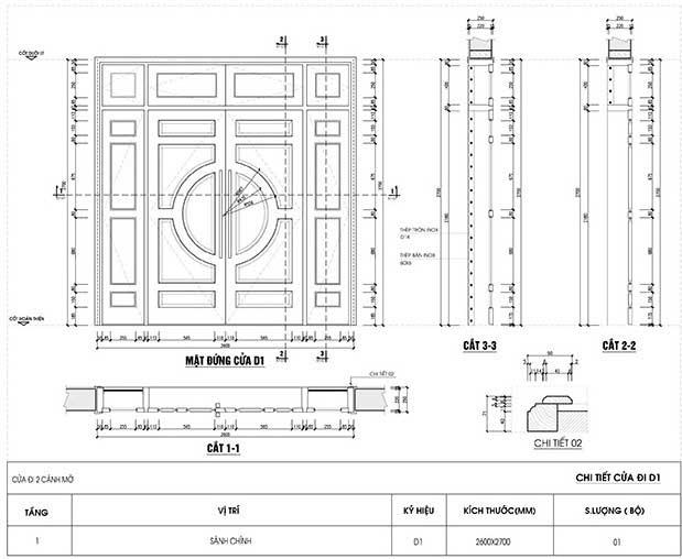Tư vấn thiết kế kích thước cửa nhà