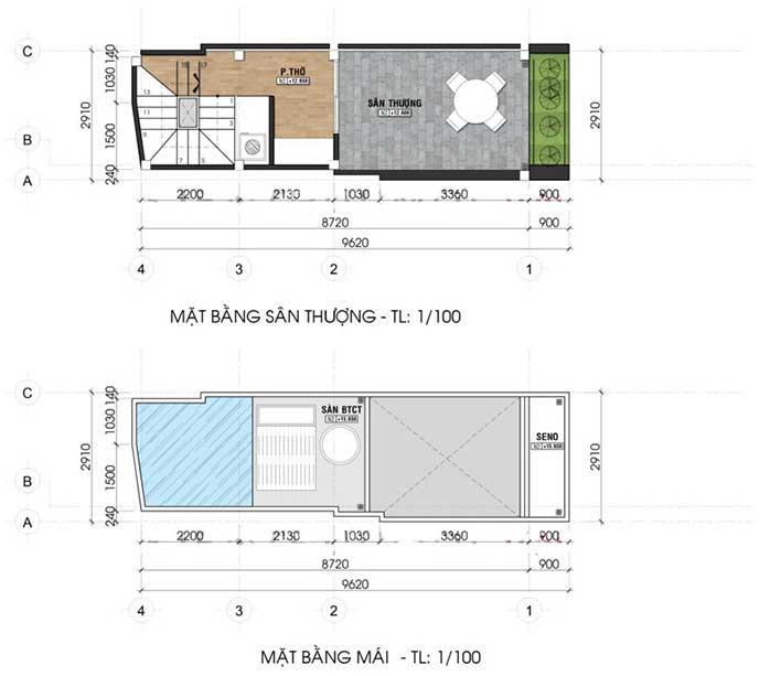 Tư vấn thiết kế nhà phố hẹp 3x10 mà vẫn thoáng