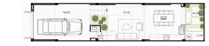 Tư vấn thiết kế nhà ống lệch tầng 4x18